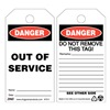 Zing 7011 Danger Tag, 5-3/4 x 3 In, Plstc, OSHA, PK10