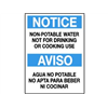 Brady 38581 Notice Sign, 14 x 10In, BL and BK/WHT, Text