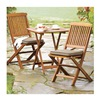 Outdoor Interiors Llc S60040 3PC SQ Bistro Set
