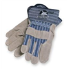Wells Lamont 224 Leather Gloves, Pearl Gray, M, PR