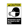 Brady 49014 Caution Sign, 14 x 10In, YEL and BK/WHT