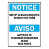 Brady 39613 Notice Sign, 20 x 14In, BL and BK/WHT, Text