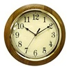 "Nyl Holdings Llc/Westclox 33882 12"" Oak Round Wall Clock"