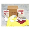 Hospeco FSSB12 Biohazard Spill Kit, Box, Red