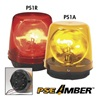 Pse Amber 555SRH Halogen Rotating Light, Red