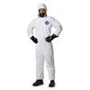 Dupont TY127SWH2X0006G1 Hooded Tyvek(R), White, Elastic, 2XL, PK 6