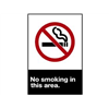 Brady 45131 No Smoking Sign, 10 x 7In, R and BK/WHT