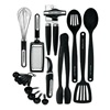 Lifetime Brands KAT448OB 17PC Black Kitch Tool Set