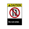 Brady 45139 Caution Sign, 10 x 7In, YEL and BK/WHT, ENG