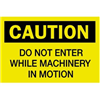 Brady 40626 Caution Sign, 10 x 14In, BK/YEL, ENG, Text