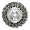 Weiler 08105 Twist Wire Wheel, 6 Dia, 5/8-1/2
