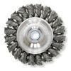 Weiler 08105 Twist Wire Wheel, 6 Dia, 5/8-1/2