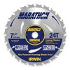 Irwin Marathon 14030 Crclr Saw Bld, Crbde, 7-1/4 In Dia, 24 TPI