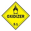 Brady 63449 Vehicle Placard, Oxidizer 5.1