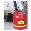 Justrite 14765 Disposal Can, 5 Gal., Red, Polyethylene