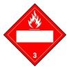 Brady 60378 Vehcle Plcard, Flame Picto w Blank Box