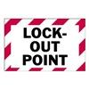 Brady 86204 Lockout Label, 3-1/2 In. H, 5 In. W, PK 5