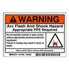 Brady 101950 Label, Arc Flash, Pk5