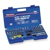 Westward 4PM11 Socket Set, Metric, 1/4, 3/8Dr, 60 Pc