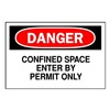Brady 87748 Danger Sign, 3-1/2 x 5In, R and BK/WHT, ENG