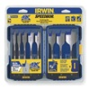 Irwin Speedbor 341008 Spade Bit Set, 3/8-1 1/2 Dia, 8 PC