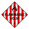 Brady 63446 Vehicle Placard, Flammable Solid