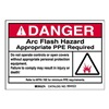 Brady 99453 Arc Flash Protection Label, PK 5