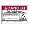 Brady 99453 Arc Flash Protection Label, PK 5