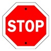 Brady 94143 Traffic Sign, 24 x 24In, WHT/R, Stop, Text
