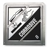Brady 76988 Front Plate Placard Holder, Corrosive