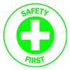 Brady 49581 Hard Hat Emblem Label, Green/White