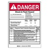 Brady 121082 Arc Flash Protection Label, 7 In. H, PK 5