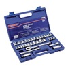 Westward 6XZ84 Socket Set, SAE/Metric, 3/8 Dr, 33 Pc