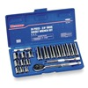 Westward 4PL97 Socket Set, Deep, Metric, 3/8Dr, 20Pc