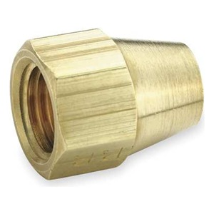 Parker Short Nut, Flare, Brass, 3/16 In Tube, PK 10 at Sears.com