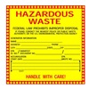 Brady 121155 Hazardous Waste Label, 6 In. H, PK 50