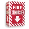 Brady 96908 Fire Extinguisher Sign, 12 x 18In, WHT/R