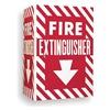 Brady 96908 Fire Extinguisher Sign, 12 x 18In, WHT/R