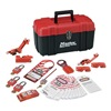 Master Lock 1457E410KA PortableLockoutKit, Filled, Electrical, 24