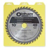 Oldham 10040TP Circular Saw Bld, Crbde, 10 In Dia, 40 TPI