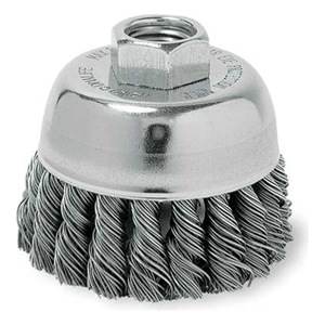 Weiler Knot Cup Brush, 3 1/2 In Dia, 0.0230 Wire at Sears.com
