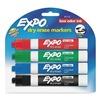 Sanford 80174 Marker, Dry Erase, Chisel, Assorted, PK4