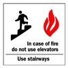 Brady 84684 Fire Stairways Sign, 7 x 7In, R and BK/WHT