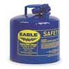 Eagle UI-50-SB Type I Safety Can, 5 gal, Blue, 13-1/2In H