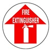 Brady 49064 Fire Extinguisher Sign, 17 x 17In, WHT/R