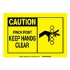Brady 83883 Caution Sign, 3-1/2 x 5In, BK/YEL, ENG, SURF