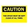 Brady 22773 Caution Sign, 10 x 14In, BK/YEL, ENG, Text