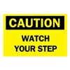 Brady 43188 Caution Sign, 10 x 14In, BK/YEL, AL, ENG