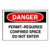 Brady 43518 Danger Sign, 10 x 14In, R and BK/WHT, AL