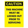 Brady 85893 Caution Security Sign, 14 x 10In, BK/YEL